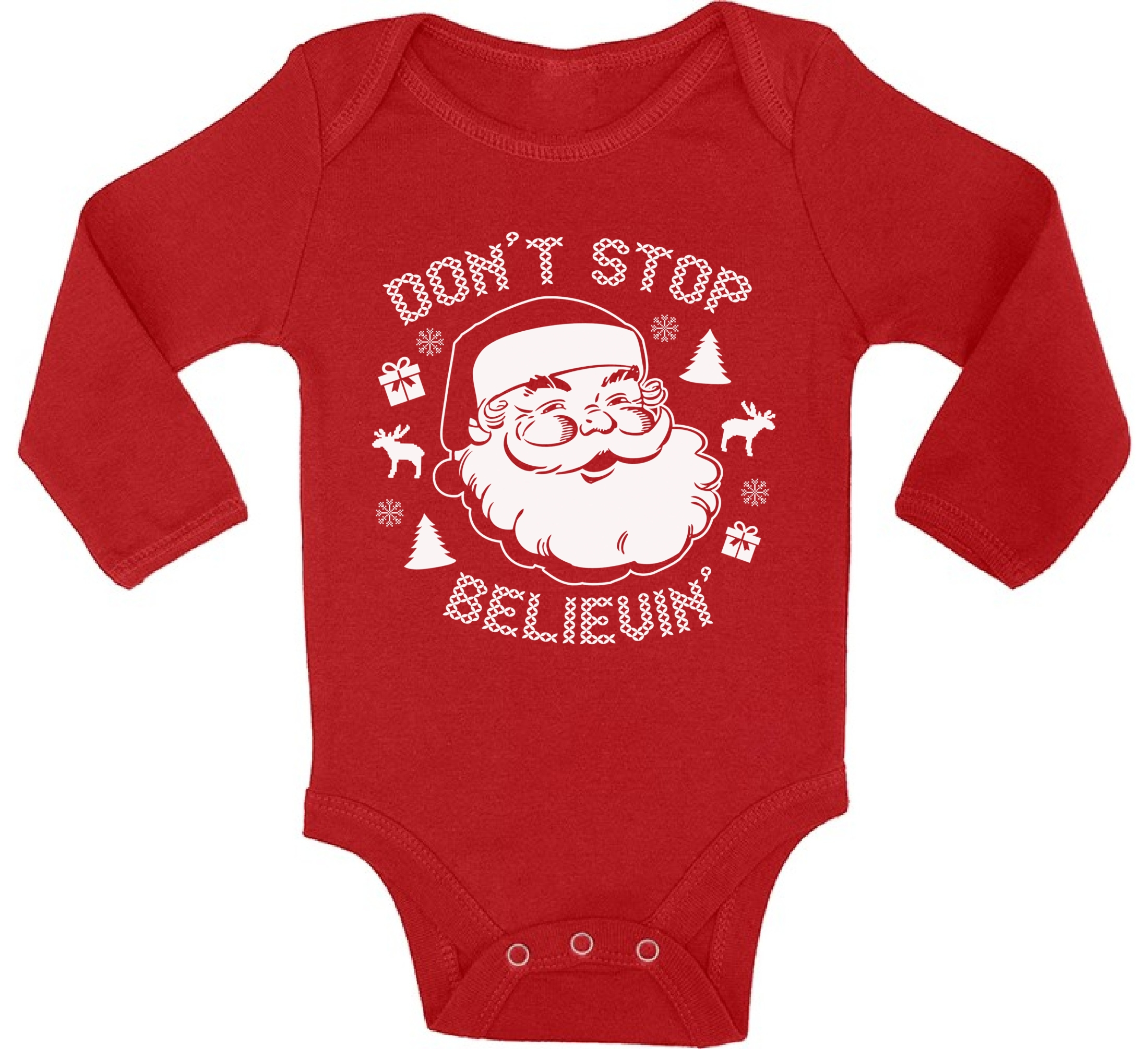 Santa Baby Bodysuits Christmas Bodysuit Baby Christmas Gifts Don\'t ...