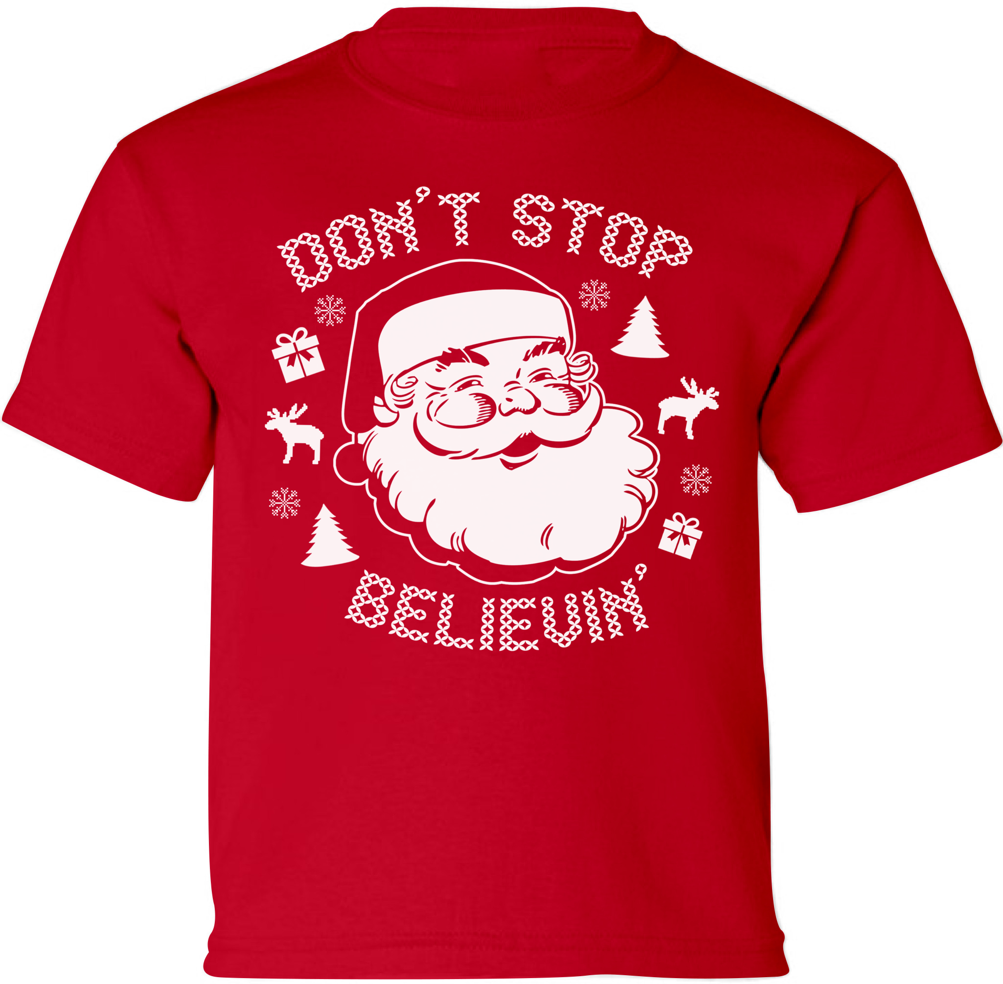 Don\'t Stop Believin\' Santa Christmas Shirts for Kids Toddler ...