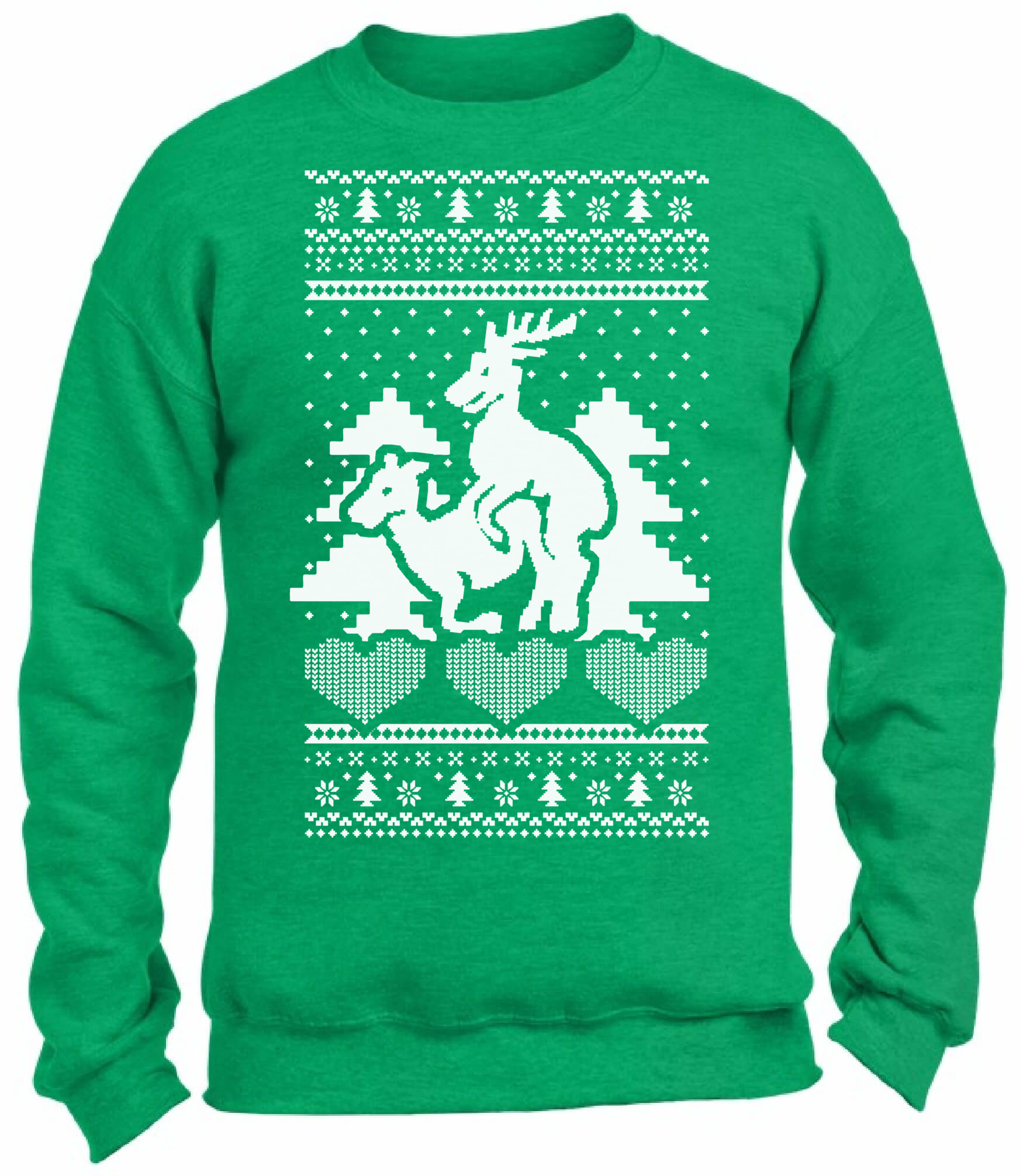 Ugly Christmas Party Sweaters: Reindeer Humping Ugly Christmas Sweater Funny Christmas