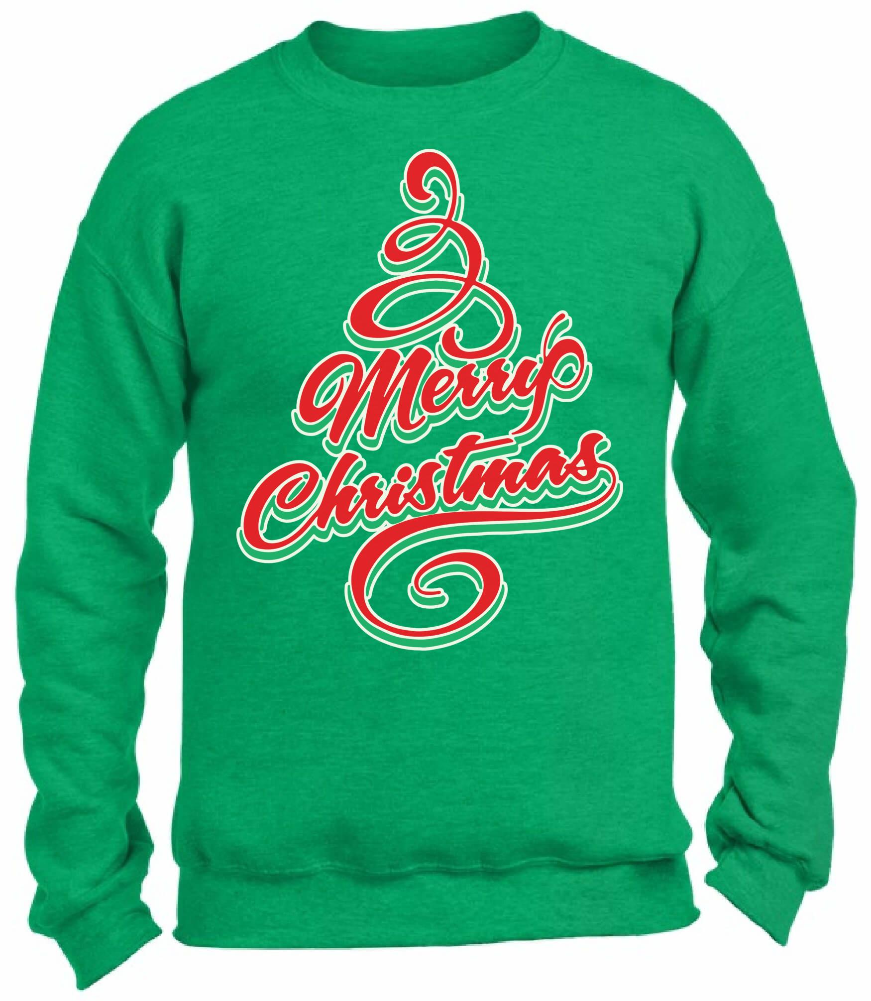 Merry Christmas Tree Christmas Sweatshirt Ugly Christmas Sweater ...