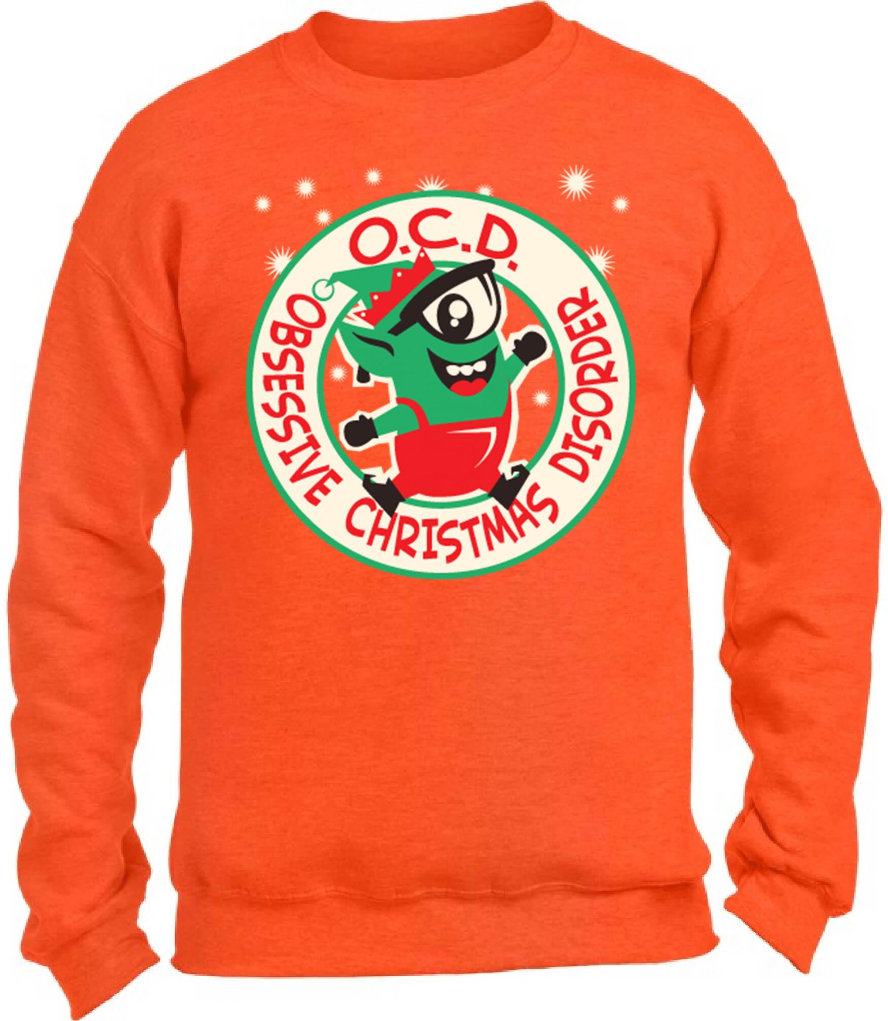OCD Obsessive Christmas Disorder Christmas Sweatshirt Ugly Christmas ...