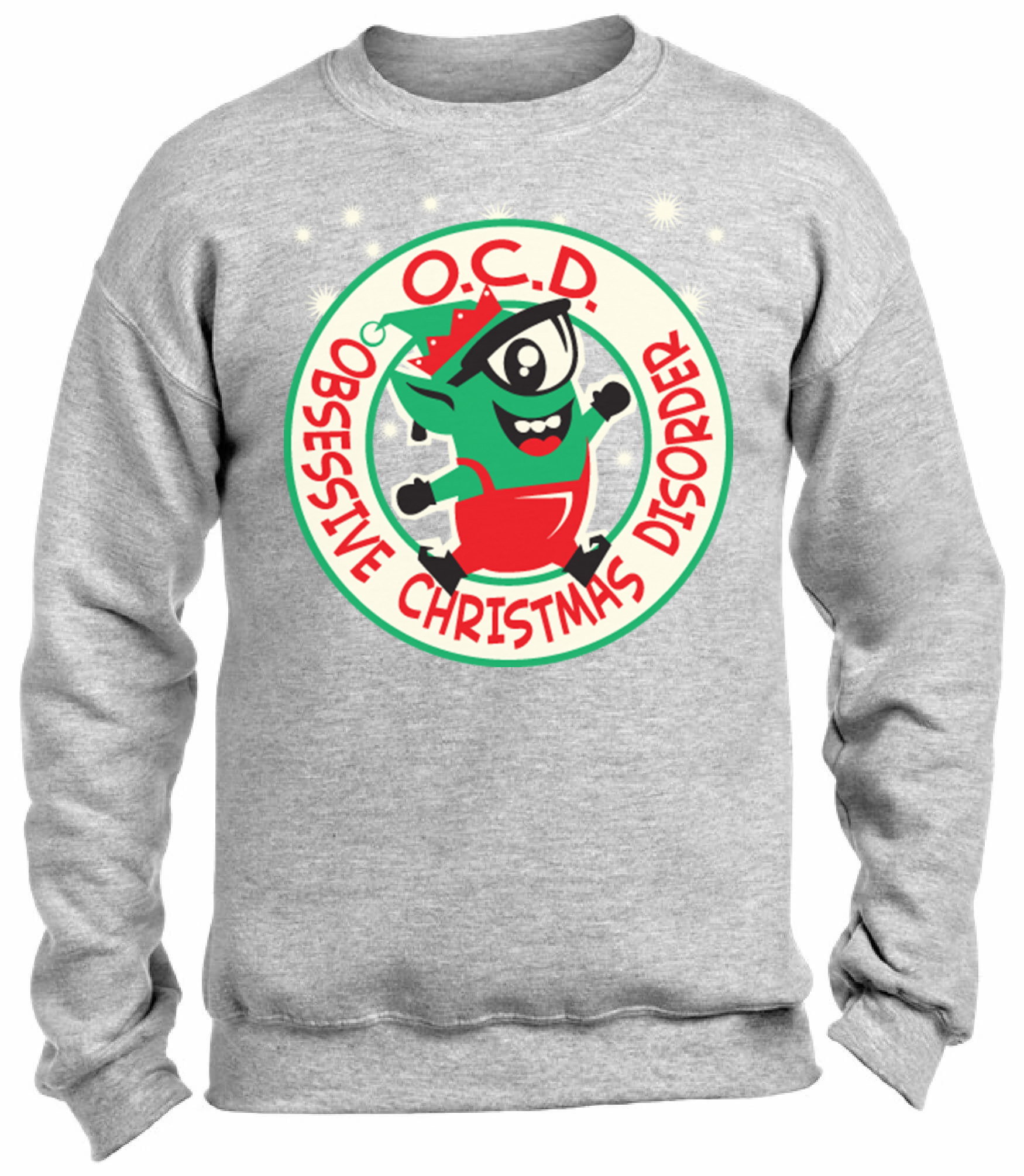 OCD Obsessive Christmas Disorder Christmas Sweatshirt Ugly Christmas ...