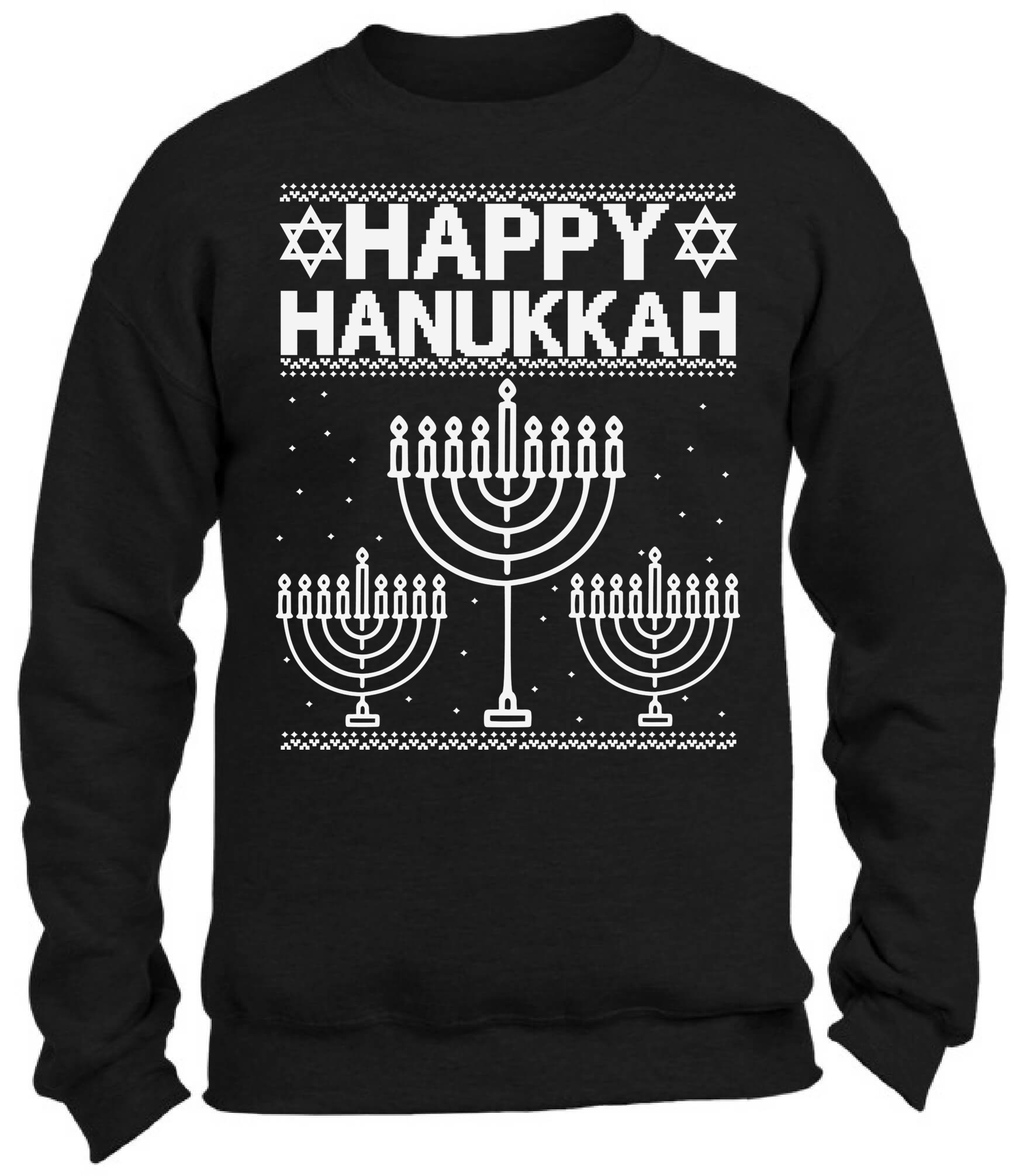Happy Hanukkah Christmas Sweatshirt Jewish Ugly Christmas Sweater ...