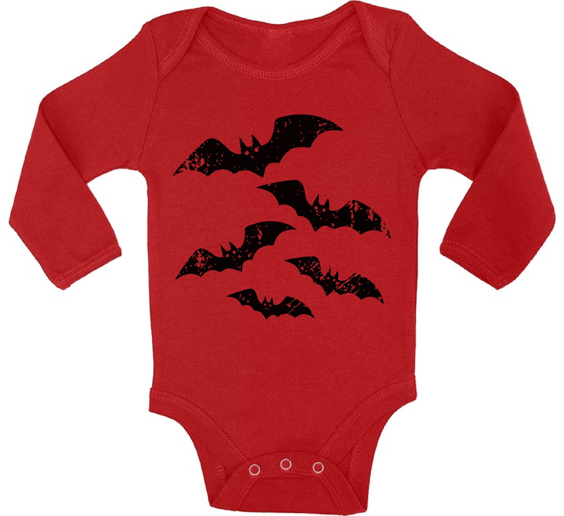 baby halloween bat boy long sleeve bodysuits tops halloween