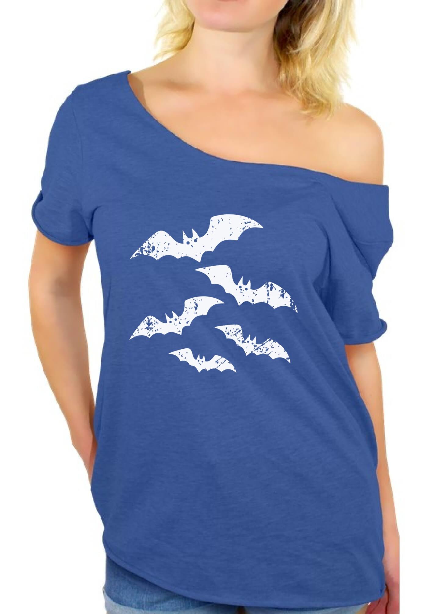 Women-039-s-Halloween-Bats-Off-The-Shoulder-