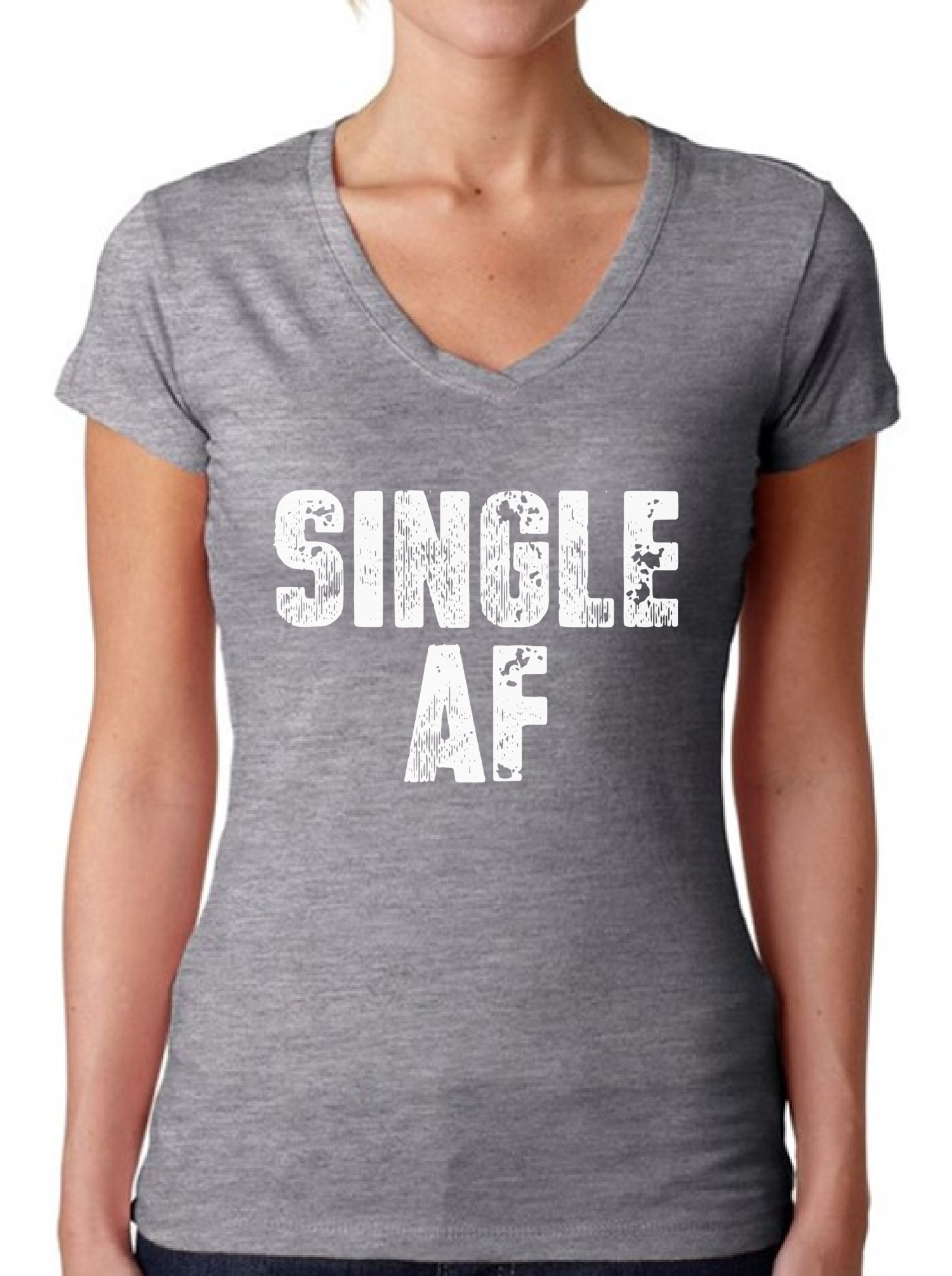 Women 039 S Single AF V Neck T