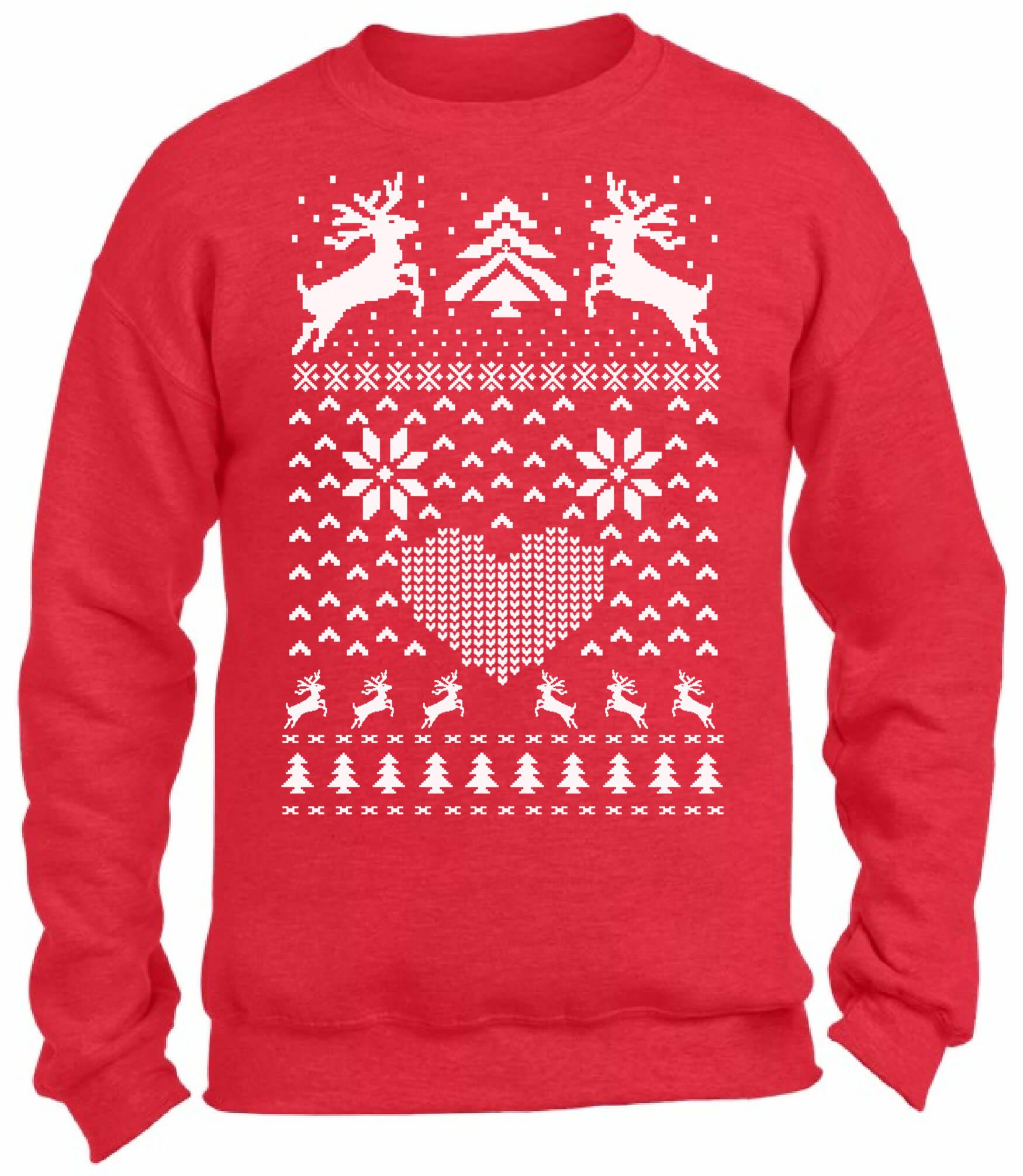 Christmas Reindeer Christmas Sweatshirt Ugly Christmas Sweater Xmas ...