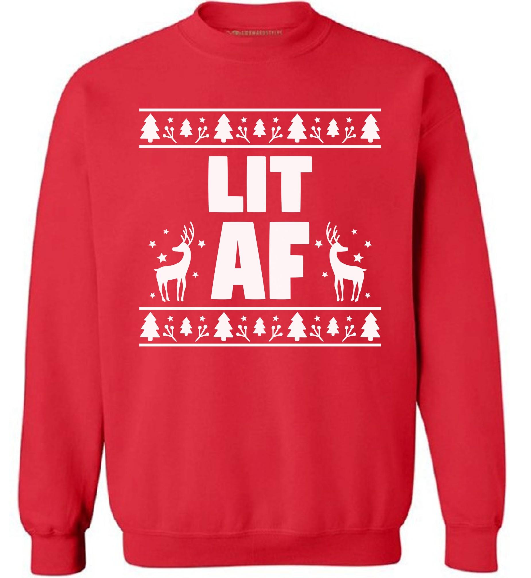 lit af sweatshirt lit sweatshirt lit christmas sweatshirt