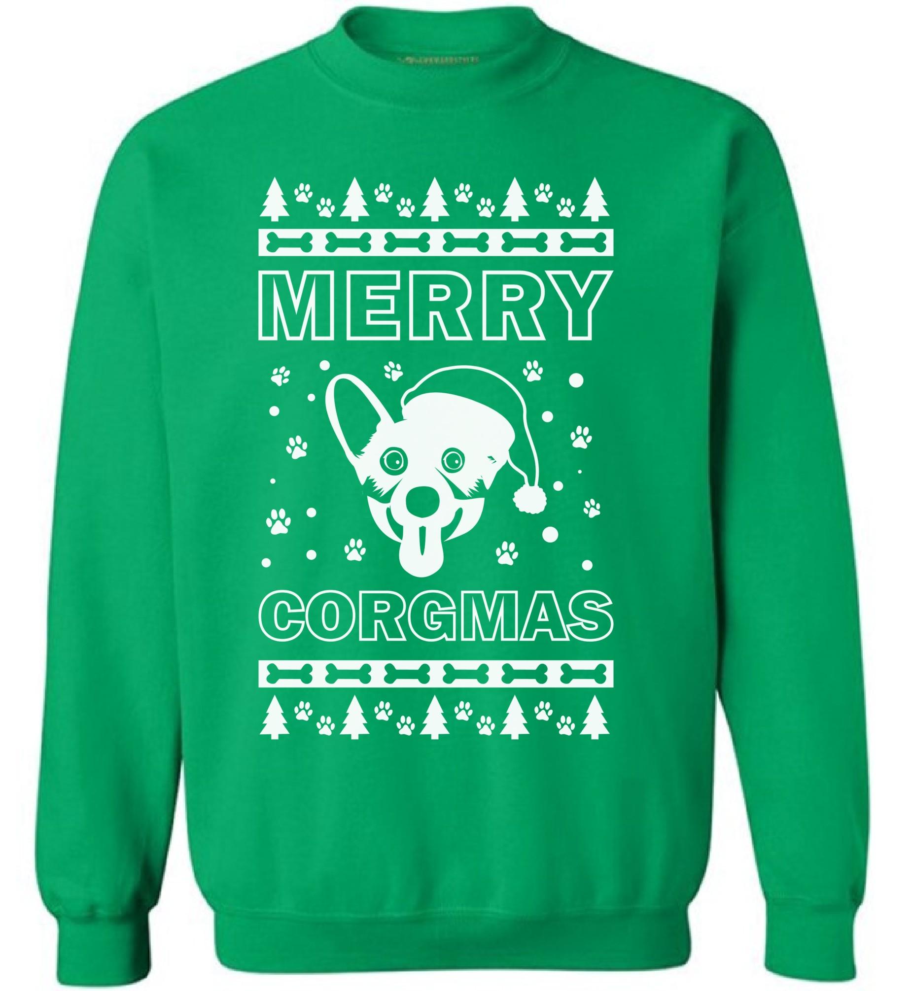 merry corgmas sweatshirt corgi christmas sweater xmas corgi