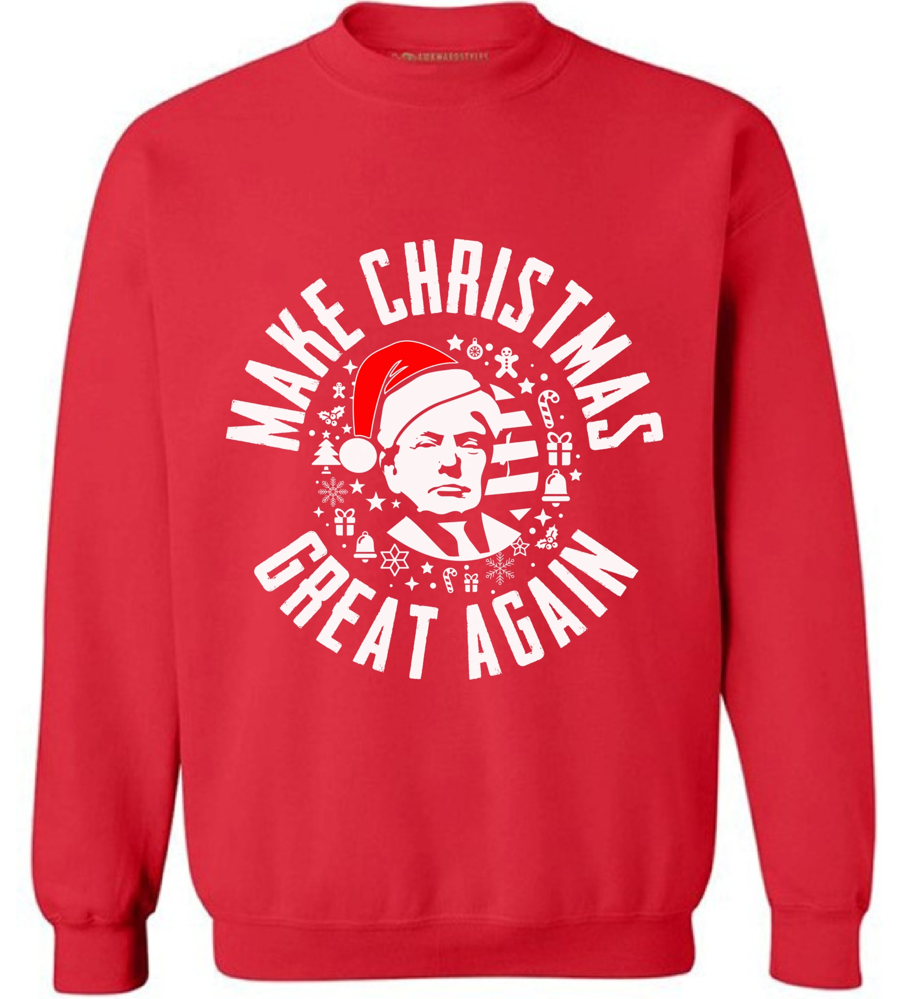 Make Christmas Great Again Sweatshirt Funny Trump Christmas ...