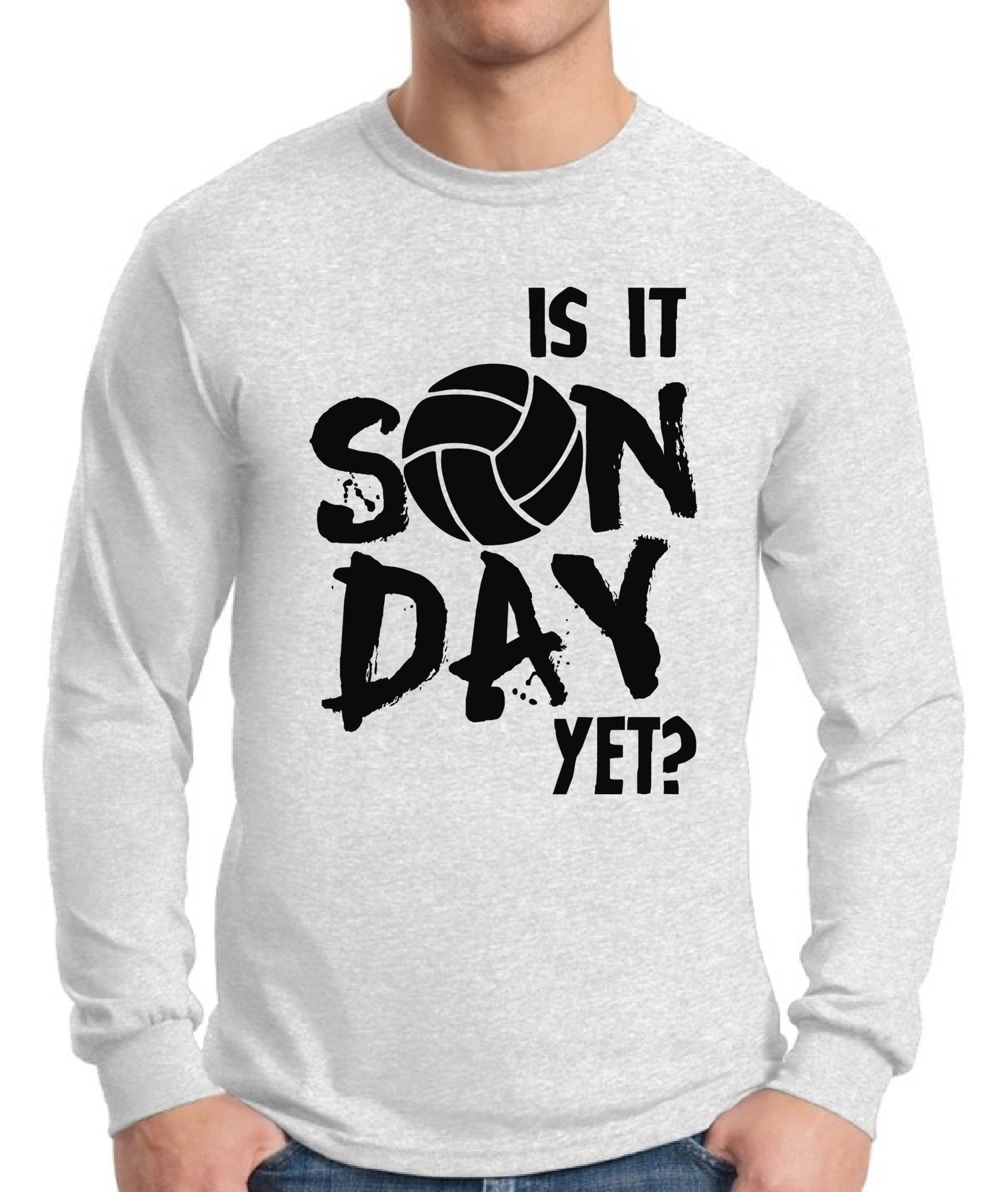 Game Day Sweat Towel: Is It Sunday Yet Volleyball Long Sleeve T Shirt Tops Game