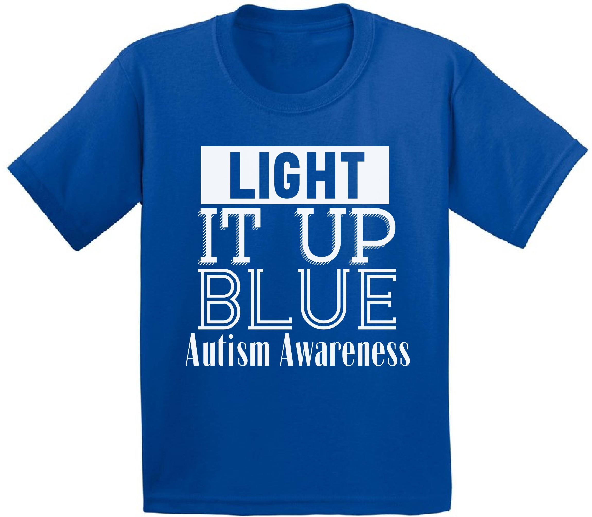 Image Is Loading Kids Light It Up Blue Shirt Autism Awareness
