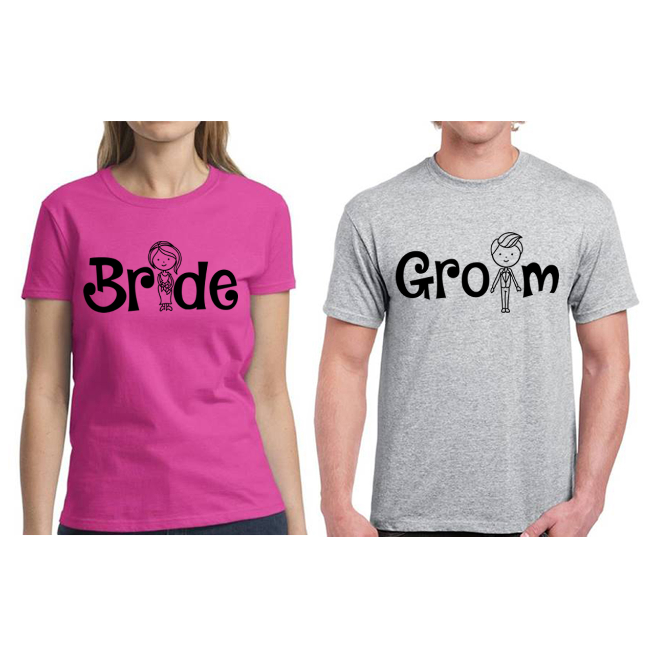 Couple Shirts Bride Groom Matching Shirts Perfect Gift for ...